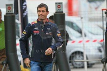 World © Octane Photographic Ltd. F1 Spanish GP - Friday 10th May 2013 paddock. Mark Webber - Infiniti Red Bull Racing. Digital Ref : 0658cb1d8752