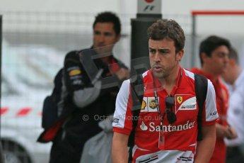 World © Octane Photographic Ltd. F1 Spanish GP - Friday 10th May 2013 paddock. Fernando Alonso - Scuderia Ferrari. Digital Ref : 0658cb1d8773