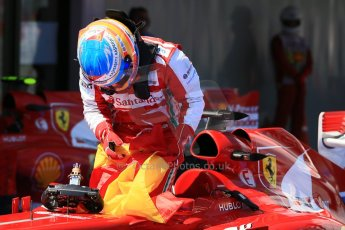 World © 2013 Octane Photographic Ltd. F1 Spanish GP, Circuit de Catalunya - Sunday 12th May 2013 - Race. Scuderia Ferrari F138 - Fernando Alonso. Digital Ref : 0674cb1d2751