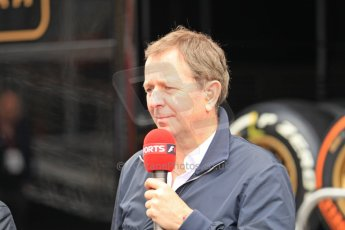 World © Octane Photographic Ltd. F1 Spanish GP, Circuit de Catalunya, Friday 10th May 2013. Practice 1. Martin Brundle - Sky Sports. Digital Ref : 0659cb1d0101