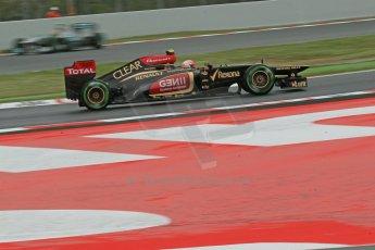 World © Octane Photographic Ltd. F1 Spanish GP, Circuit de Catalunya, Friday 10th May 2013. Practice 1. Romain Grosjean - Lotus. Digital Ref : 0659cb1d8972
