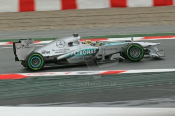 World © Octane Photographic Ltd. F1 Spanish GP, Circuit de Catalunya, Friday 10th May 2013. Practice 1. Nico Rosberg - Mercedes AMG Petronas. Digital Ref : 0659cb1d9065