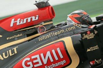 World © Octane Photographic Ltd. F1 Spanish GP, Circuit de Catalunya, Friday 10th May 2013. Practice 1. Kimi Raikkonen - Lotus. Digital Ref : 0659cb1d9331
