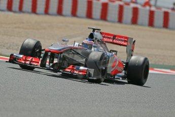 World © Octane Photographic Ltd. F1 Spanish GP, Circuit de Catalunya, Friday 10th May 2013. Practice 2. Vodafone McLaren Mercedes - Jenson Button. Digital Ref : 0661cb1d9439
