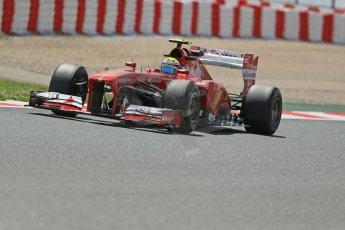 World © Octane Photographic Ltd. F1 Spanish GP, Circuit de Catalunya, Friday 10th May 2013. Practice 2. Scuderia Ferrari - Felipe Massa. Digital Ref : 0661cb1d9453