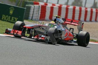 World © Octane Photographic Ltd. F1 Spanish GP, Circuit de Catalunya, Friday 10th May 2013. Practice 2. Vodafone McLaren Mercedes - Sergio Perez. Digital Ref : 0661cb1d9463