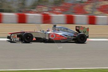 World © Octane Photographic Ltd. F1 Spanish GP, Circuit de Catalunya, Friday 10th May 2013. Practice 2. Vodafone McLaren Mercedes - Jenson Button. Digital Ref : 0661cb7d8932