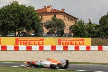 World © Octane Photographic Ltd. F1 Spanish GP, Circuit de Catalunya, Friday 10th May 2013. Practice 2. Sahara Force India - Adrian Sutil. Digital Ref : 0661cb7d8946