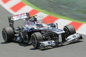 World © 2013 Octane Photographic Ltd. F1 Spanish GP, Circuit de Catalunya - Sunday 12th May 2013 - Race. Sauber C32, Esteban Gutierrez. Digital Ref : 0673cb1d2462