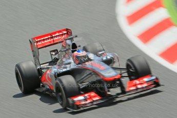 World © 2013 Octane Photographic Ltd. F1 Spanish GP, Circuit de Catalunya - Sunday 12th May 2013 - Race. Vodafone McLaren Mercedes MP4/28 - Jenson Button. Digital Ref : 0673cb1d2464
