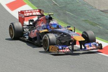 World © 2013 Octane Photographic Ltd. F1 Spanish GP, Circuit de Catalunya - Sunday 12th May 2013 - Race. Toro Rosso STR8 - Daniel Ricciardo. Digital Ref : 0673cb1d2585