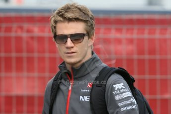 World © Octane Photographic Ltd. F1 Spanish GP - Saturday Paddock - 11th May 2013. Nico Hulkenberg - Sauber. Digital Ref : 0668cb1d0166