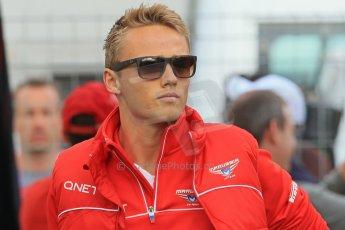 World © Octane Photographic Ltd. F1 Spanish GP - Saturday Paddock - 11th May 2013. Max Chilton - Marussia. Digital Ref : 0668cb1d0178