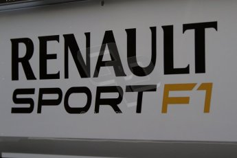 World © Octane Photographic Ltd. Formula 1 Winter Test Jerez – Day 1 – Tuesday 5th February 2013. Renault Sport F1 logo. Digital Ref: 0571cb7d6503