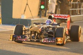 World © Octane Photographic Ltd. Formula 1 Winter Test Jerez – Day 1 – Tuesday 5th February 2013. Toro Rosso STR8, Daniel Ricciardo. Digital Ref: 0571cb7d6525