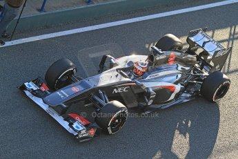 World © Octane Photographic Ltd. Formula 1 Winter Test Jerez – Day 1 – Tuesday 5th February 2013. Sauber C32, Nico Hulkenberg. Digital Ref: 0571cb7d6543