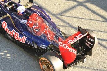 World © Octane Photographic Ltd. Formula 1 Winter Test Jerez – Day 1 – Tuesday 5th February 2013. Toro Rosso STR8 exhaust detail, Daniel Ricciardo. Digital Ref: 0571cb7d6586