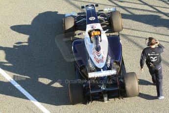 World © Octane Photographic Ltd. Formula 1 Winter Test Jerez – Day 1 – Tuesday 5th February 2013. Williams FW34 – Pastor Maldonado. Digital Digital Ref: 0571cb7d6689