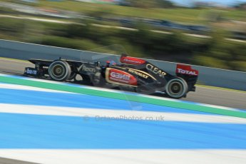 World © Octane Photographic Ltd. Formula 1 Winter Test Jerez – Day 1 – Tuesday 5th February 2013. Lotus E31 - Romain Grosjean. Digital Ref: 0571cb7d6770