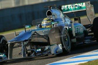 World © Octane Photographic Ltd. Formula 1 Winter testing, Jerez, 5th February 2013. Nico Rosberg  - Mercedes AMG Petronas F1 W04. Digital Ref: 0571lw1d7776