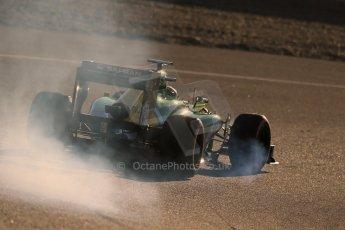 World © Octane Photographic Ltd. Formula 1 Winter Test Jerez – Day 1 – Tuesday 5th February 2013. Caterham CT03 - Giedo van der Garde. Digital Ref: 0571lw1d7834