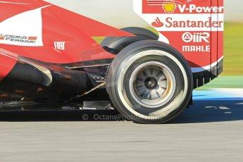 World © Octane Photographic Ltd. Formula 1 Winter Test Jerez – Day 1 – Tuesday 5th February 2013. Ferrari F138 exhaust detail – Felipe Massa. Digital Ref: 0571lw1d7975