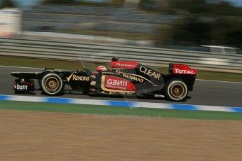 World © Octane Photographic Ltd. Formula 1 Winter Test Jerez – Day 1 – Tuesday 5th February 2013. Lotus E31 - Romain Grosjean. Digital Ref: 0571lw1d8171
