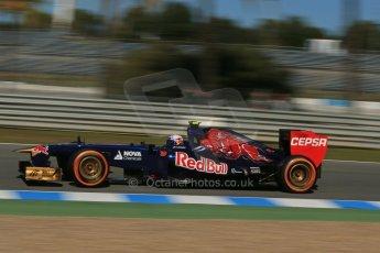 World © Octane Photographic Ltd. Formula 1 Winter Test Jerez – Day 1 – Tuesday 5th February 2013. Toro Rosso STR8, Daniel Ricciardo. Digital Ref: 0571lw1d8414