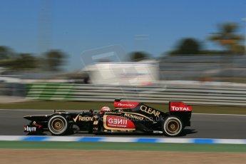 World © Octane Photographic Ltd. Formula 1 Winter Test Jerez – Day 1 – Tuesday 5th February 2013. Lotus E31 - Romain Grosjean. Digital Ref: 0571lw1d8443