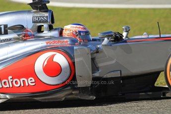 World © Octane Photographic Ltd. Formula 1 Winter testing, Jerez, 7th February 2013. Vodafone McLaren Mercedes MP4/28, Jenson Button. Digital Ref: 0573cb7d2415
