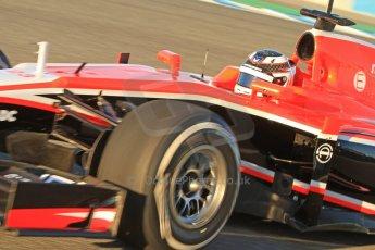 World © Octane Photographic Ltd. Formula 1 Winter testing, Jerez, 7th February 2013. Marussia MR02, Max Chilton. Digital Ref: 0573cb7d7140