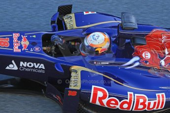 World © Octane Photographic Ltd. Formula 1 Winter testing, Jerez, 7th February 2013. Toro Rosso STR8, Jean-Eric Vergne. Digital Ref: 0573cb7d7221