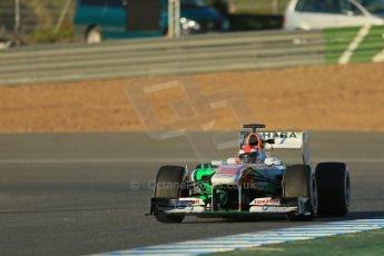 World © Octane Photographic Ltd. Formula 1 Winter testing, Jerez, 7th February 2013, morning sessions. Sahara Force India VJM06 – Paul di Resta. Digital Ref: 0573lw1d8969