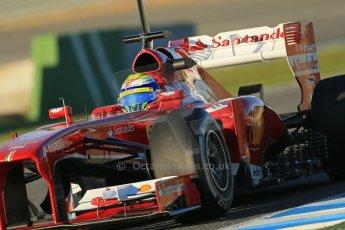 World © Octane Photographic Ltd. Formula 1 Winter testing, Jerez, 7th February 2013. Ferrari F138 – Felipe Massa. Digital Ref: 0573lw1d9025