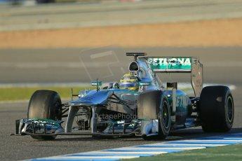 World © Octane Photographic Ltd. Formula 1 Winter testing, Jerez, 7th February 2013. Mercedes AMG Petronas F1 W04, Nico Rosberg. Digital Ref: 0573lw1d9116