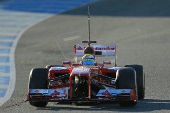World © Octane Photographic Ltd. Formula 1 Winter testing, Jerez, 7th February 2013. Ferrari F138 – Felipe Massa. Digital Ref: 0573lw1d9211