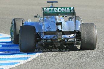 World © Octane Photographic Ltd. Formula 1 Winter testing, Jerez, 7th February 2013. Mercedes AMG Petronas F1 W04, Nico Rosberg. Digital Ref: 0573lw1d9393