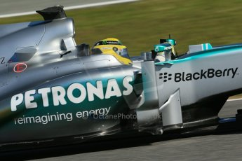 World © Octane Photographic Ltd. Formula 1 Winter testing, Jerez, 7th February 2013. Mercedes AMG Petronas F1 W04, Nico Rosberg. Digital Ref: 0573lw1d9417