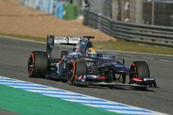 World © Octane Photographic Ltd. Formula 1 Winter testing, Jerez, 7th February 2013. Sauber C32, Esteban Gutierrez. Digital Ref: 0573lw1d9564