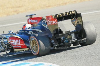 World © Octane Photographic Ltd. Formula 1 Winter testing, Jerez, 7th February 2013. Lotus E31, Kimi Raikkonen. Digital Ref: 0573lw1d9652