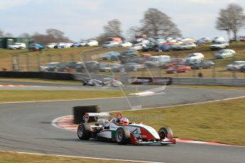 World © Octane Photographic Ltd. F3 Cup – Oulton Park, Monday 1st April 2013 – Race 2. Alice Powell – Mark Bailey Racing - Dallara F305. Digital Ref : 0626lw7d3848
