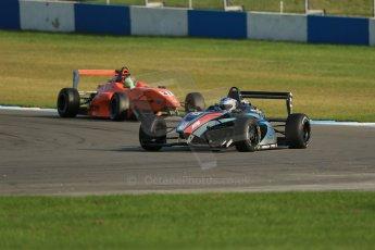World © Octane Photographic Ltd. BRDC Formula 4 (F4) Race 1, Donington Park 28th September 2013. MSVF4-13, SWR (Sean Walkinshaw Racing), Matthew (Matty) Graham leading MSVF4-13, Hillspeed, Seb Morris. Digital Ref : 0833lw1d9736