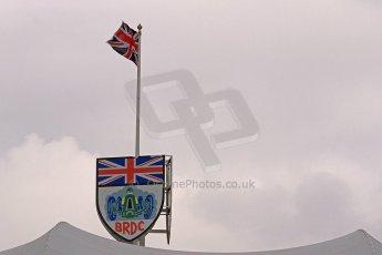 World © Octane Photographic Ltd. BRDC Formula 4 (F4) Championship, Silverstone, April 27th 2013. BRDC Silverston clubhouse flag. Digital Ref : 0642cb7d9317