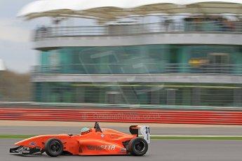 World © Octane Photographic Ltd. BRDC Formula 4 (F4) Championship, Silverstone, April 27th 2013. MSV F4-013, Hillspeed, Seb Morris. Digital Ref : 0642cb7d9452