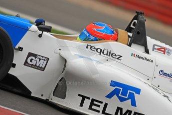 World © Octane Photographic Ltd. BRDC Formula 4 (F4) Championship Silverstone, April 27th 2013. MSV F4-013, Mark Goodwin Racing, Diego Menchaca.  Digital Ref : 0642cb7d9555