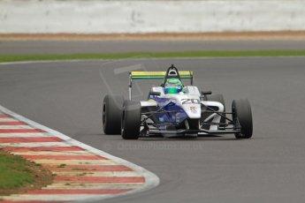 World © Octane Photographic Ltd. BRDC Formula 4 (F4) Championship, Silverstone, April 27th 2013. MSV F4-013, HHC Motorsport, Gustavo Lima. Digital Ref : 0642lw7d7296