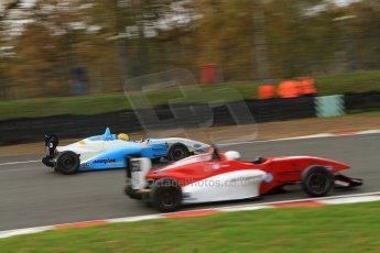 World © Octane Photographic Ltd. Brands Hatch, Qualifying, Sunday 24th November 2013. BRDC Formula 4 Winter Series, MSV F4-13, Malgosia Rdest – Douglas Motorsport and Jack Cook – Hillspeed. Digital Ref : 0866lw7d4355