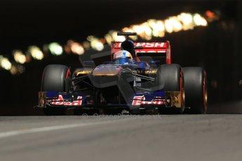 World © 2013 Octane Photographic Ltd. F1 Monaco GP, Monte Carlo -Thursday 23rd May 2013 - Practice 2. Scuderia Toro Rosso STR8 - Jean-Eric Vergne. Digital Ref : 0694lw1d7804