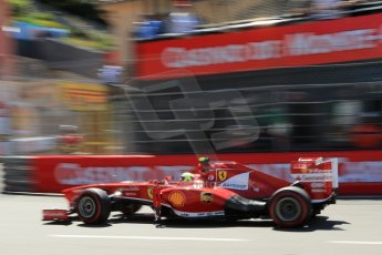 World © 2013 Octane Photographic Ltd. F1 Monaco GP, Monte Carlo -Thursday 23rd May 2013 - Practice 2. Scuderia Ferrari F138 - Felipe Massa. Digital Ref : 0694lw1d8026