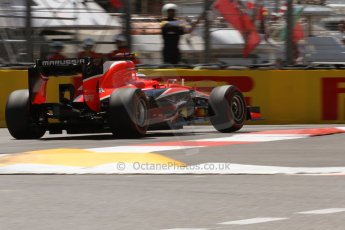 World © 2013 Octane Photographic Ltd. F1 Monaco GP, Monte Carlo -Thursday 23rd May 2013 - Practice 2. Marussia F1 Team MR02 - Max Chilton. Digital Ref : 0694lw7d7688